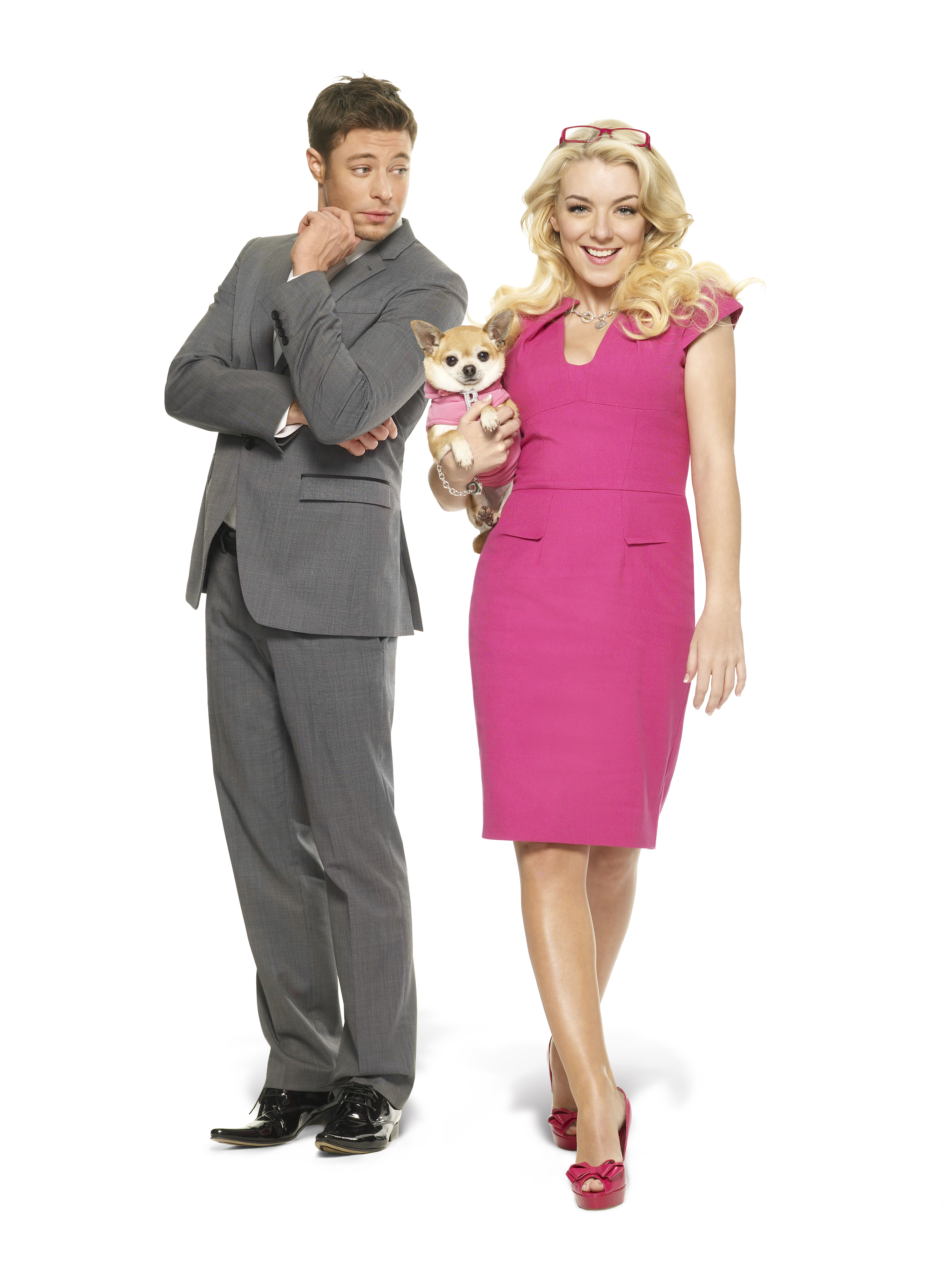 Duncan James and Sheridan Smith in Legally Blonde