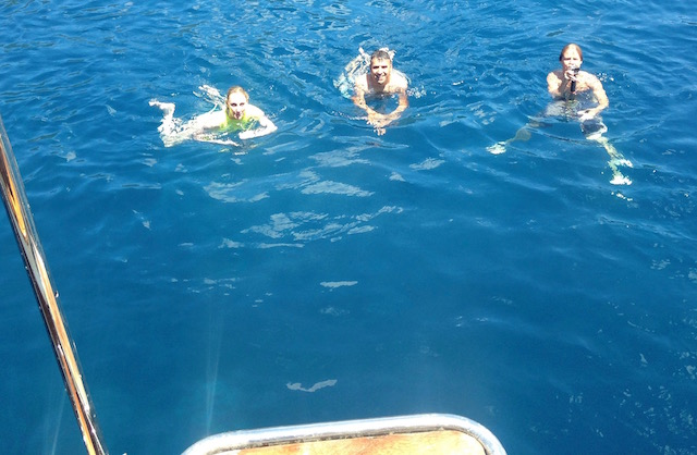 swimming from boat, Bodrum