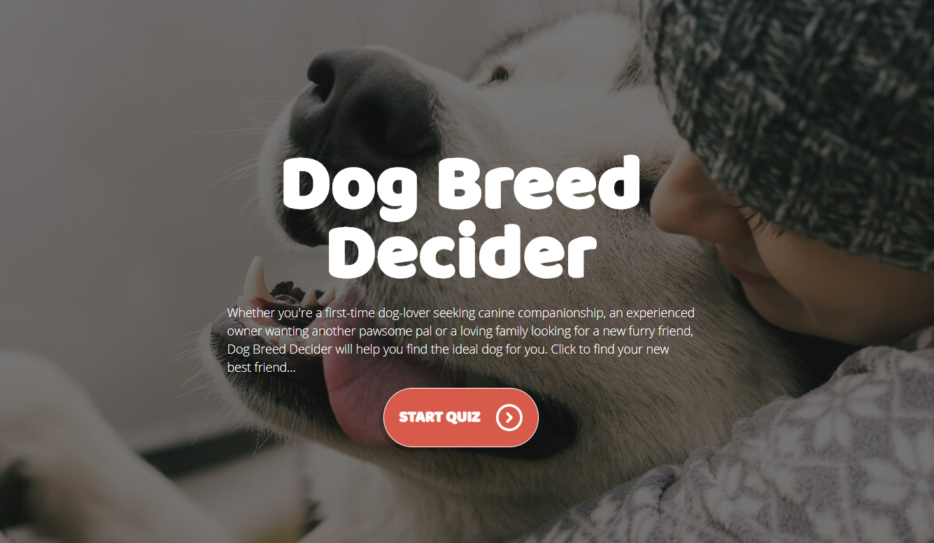 Dog breed decider
