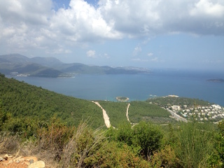 View on safari, Bodrum, Turkey
